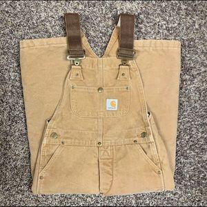 Carhartt Boys small insulated bib overalls size 8
